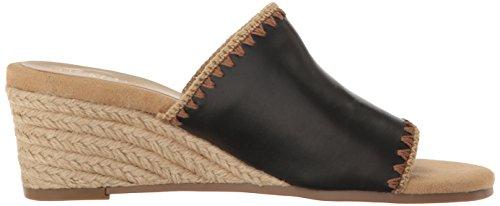 Aerosoles Sandal Slide Wedge Women Lifespan Leather Black 6q4BOr6Szw
