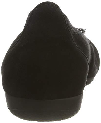 17 Gabor Negro Shoes Casual Bailarinas schwarz Mujer Para 0n0raX41
