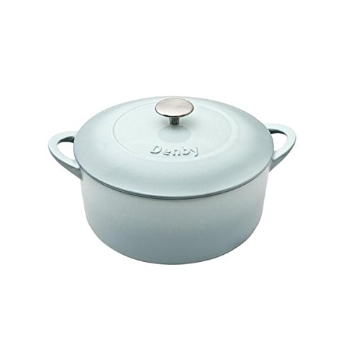 Denby USA Pavilion Cast Iron 4 L Round Casserole, Medium