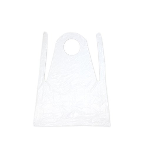 Aspire Bulk Disposable Plastic Aprons, 0.75 / 1.5 Mil Anti-oil Protective Barbecue Apron Pack of 100 - S,60Packs by Aspire