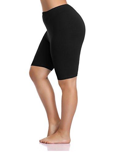 Kotii Womens Plus Size Stretch Short Leggings Modal Cotton Shorts Under Dresses Leggings Pants