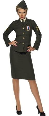 Costume Femme Officier De Guerre Kaki Smiffys Taille Xl