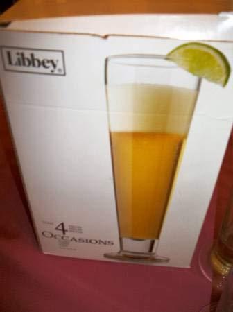 Libbey Occasions Pilsner Glasses, Set of 4 ()