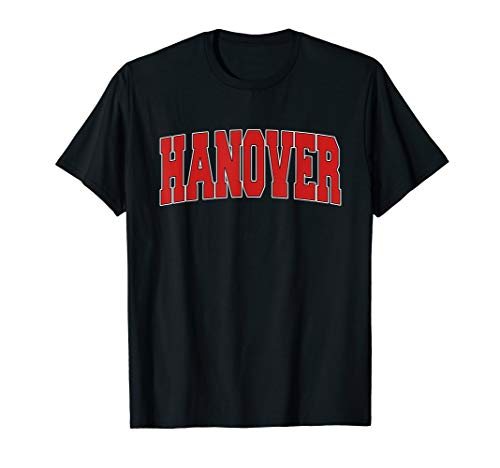 HANOVER IN INDIANA Varsity Style USA Vintage Sports T-Shirt