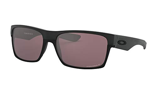 Oakley Men's OO9189 TwoFace Square Sunglasses, Matte Black/Prizm Daily Polarized, 60 mm ()