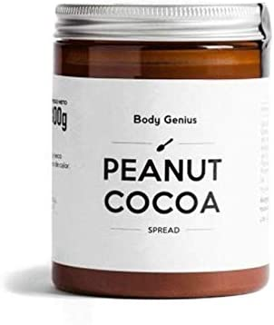 BODY GENIUS Peanut Cocoa. Crema de cacahuete y cacao. 300g. Alta en Proteína, Natural, Sin Azúcar Añadido, Sin Aceite de Palma, Edulcorada con Stevia. ...