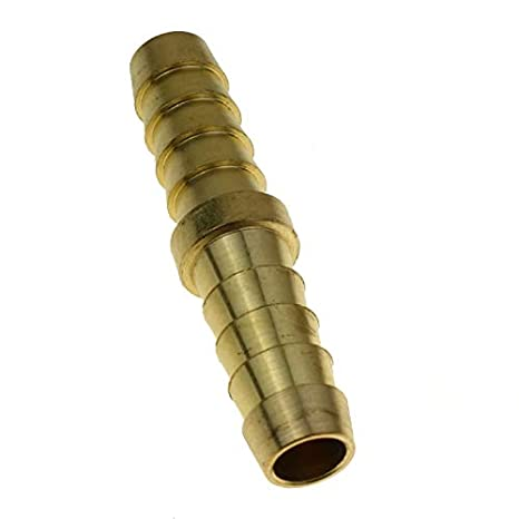 3pcs Brass Barb Splicer Mender Fitting Air Water Fuel Hose Joiner for Hose ID 1//8 3//16 1//4 3//8 1//2 3//8 X 3//8