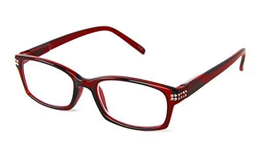 301f3ebe728e Optimum Optical Fashion Moxie Red Candy Apple Frame Reading Glasses (Moxie  Red, 1.75)