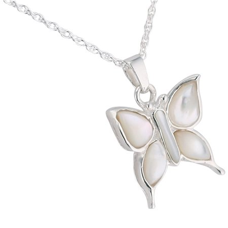Silverlight Urns Butterfly Mother of Pearl Pendant
