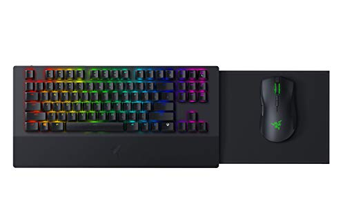 Razer Turret Wireless Mechanical Gaming Keyboard & Mouse Combo for PC & Xbox One: Chroma RGB/Dynamic Lighting - Retractable Magnetic Mouse Mat - 40hr Battery