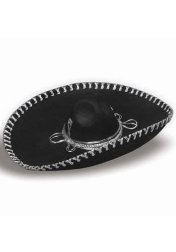 Adult Themed Costumes (Forum Novelties Men's Adult Oversized Sombrero Costume Hat, Black, One Size)