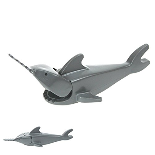Lego SWORDFISH SHARK Figure Classic Light Gray
