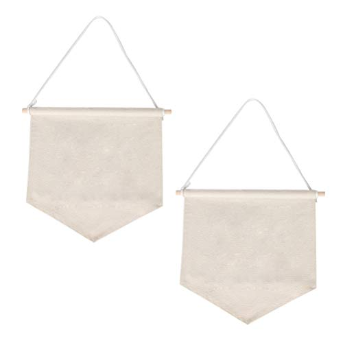 - Wall Display Banners Vankcp 2pcs Blank Pins Canvas Enamel Banner 13.8'' x 11.8'' for Room Home Decoration Display Banne