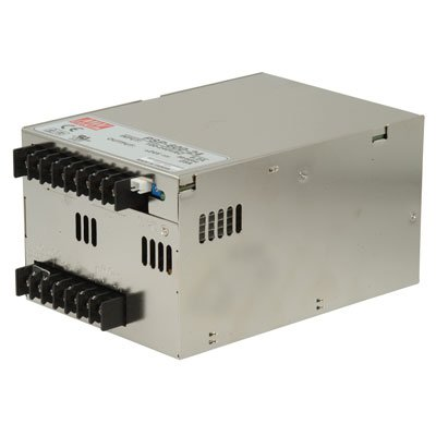 "Mean Well PSP-600-48 Enclosed Switching AC-to-DC Power Supply, Single Output, 48V, 0-12.5A, 600W, 3.7"" H x 4.7"" W x 6.7"" L"