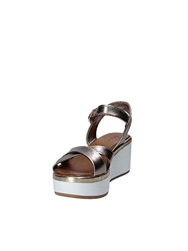 Donna Pewter Sandalo 8669 Scarpa Black Inuovo Plomb xFw4qZEI