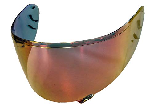 OZ-USA Aftermarket Shoei Helmet Visor (RF-1100, Red ()