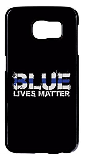 Deal Market LLC (Tm) Blue Lives Matter, Thin Blue Line Police Rubber Silicone Case for Samsung Galaxy S6 Ships From Florida and guaranteed Delivery Within 7 Days (Samsung S4 Police Case)