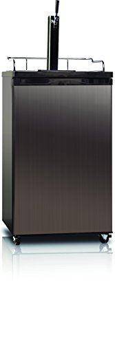 Midea WHS-199BSS1 Compact Single Door Kegerator Beer/Beverage Refrigerator and Dispenser, 4.9 Cubic Feet, Black...