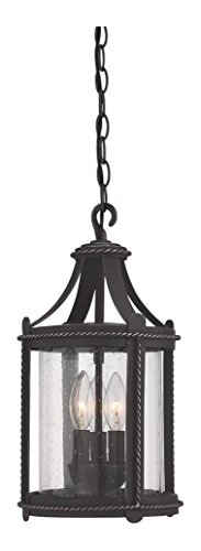 Artisan Pardo Wash Palencia 3 Light Outdoor Small Pendant by Designers Fountain