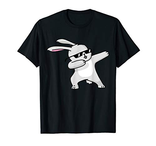 (Cute Easter Bunny Shirts for Boys and Girls - Dabbing Rabbit)