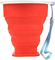 Premium Quality Telescopic Outdoor Portable Foldable Silicone Collapsible Cup for Travel Camping - Red Useful