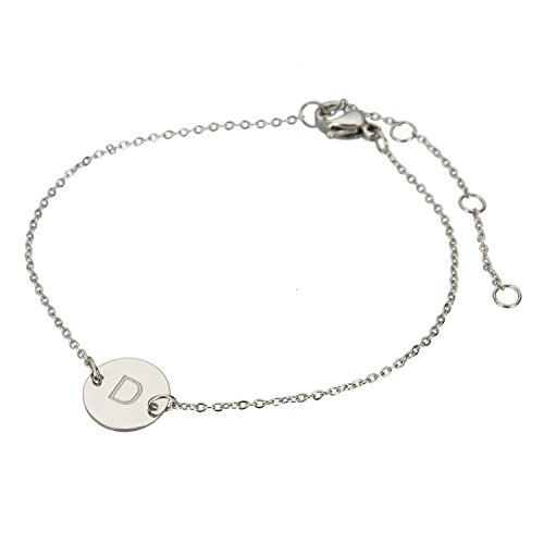 Steel Box Chain and Disc Bracelet (Silver) - 3