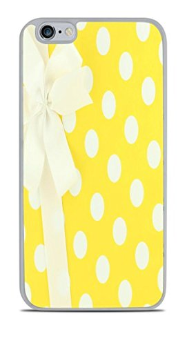White and Yellow Polka Dots Wrapped Present With Bow White Silicone Case for iPhone 6S+ (5.5) by Debbie's Designs