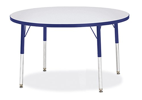Berries 6468JCE003 Round Activity Table, E-Height, 42'' Diameter, Gray/Blue/Blue by Berries