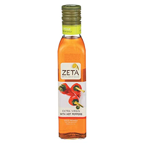 - ZETA THE LAND OF GALILEE Extra Virgin Olive Oil with Hot Peppers, 250 ML