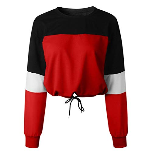 Haut Tops Casual Rouge Femme Sweat d'pissure Longues Chic Shirt T AIMEE7 Manches Pas Cher 40R6gHw