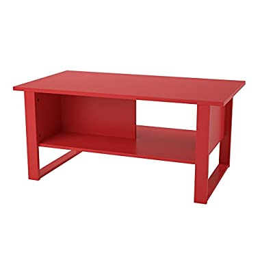 Altra Reese Coffee Table, Ruby Red - Color: Ruby Red