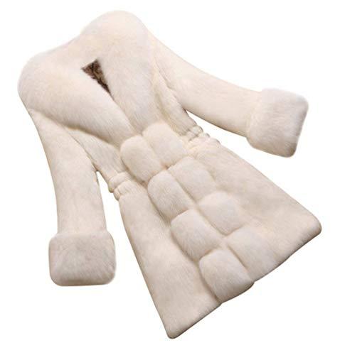 Calda Especial Mantello Con Trench Cappotti White2 Giaccone Elegante Donna Outwear Invernali Lunga 88 Addensare BoBo Estilo Pelzmantelkapuze Festivo Cappuccio IPwFqI