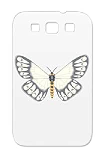 TPU White For Sumsang Galaxy S3 Butterflys & Moths Pupa Flight Insects Egg Butterfly Animals Nature Larva Wings Moths Shatterproof Case