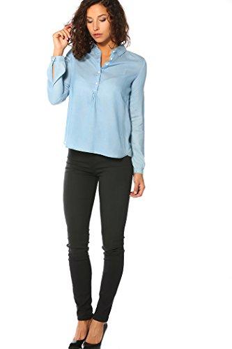 Chemise Tunique En Jeans Levis Janeane Bleu Clair Femme
