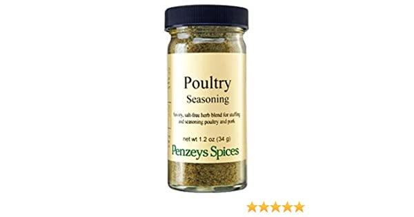 Poultry Seasoning By Penzeys Spices 1 2 oz 1/2 cup jar
