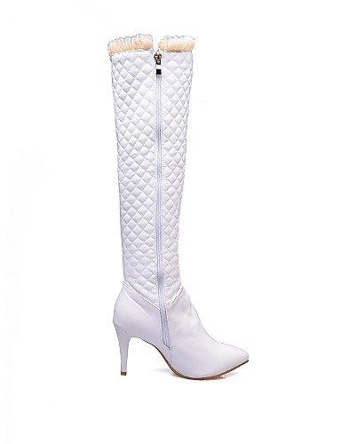 us8 la mujer eu37 Botas white a 7 us8 cn39 uk6 cn39 white Tacón XZZ Semicuero Negro Blanco 5 Stiletto uk6 eu39 Vestido white de Moda Casual Botas Zapatos 5 cn37 eu39 Puntiagudos us6 5 uk4 AEwq8T