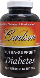 Carlson Nutra-support pour le Diabete, 120 Softgels