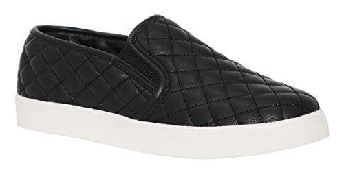 soda alone black quilted sneakers (11)]()