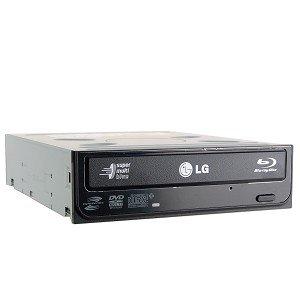 Hitachi/LG GBC-H20L 6x Blu-ray BD-ROM/16x DVD±RW DL SATA Drive w/LightScribe & Software (Black) by Hitachi LG