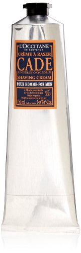 L'Occitane CADE Shaving Cream for Men, 5.2 fl. oz.