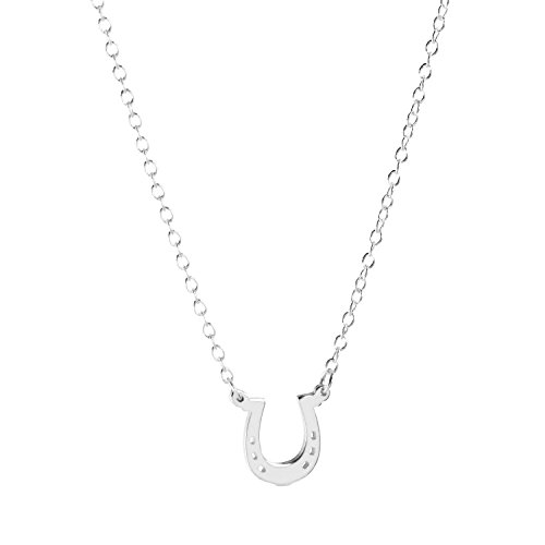 Deidreamers Sterling Silver LUCKY HORSHOE Necklace (Silver)