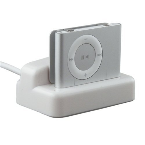 Bargaincell USB Hotsync & Charging Dock Cradle desktop Charger for Apple IPOD Shuffle 2nd Generation MP3 Player (Ipod Shuffle 2nd Generation Docking Station With Speakers)