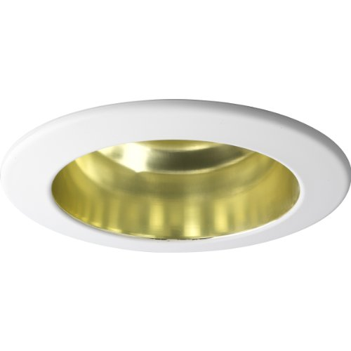 - Progress Lighting P8145-22 Recessed Open Trim That Are UL and CUL Listed for Damp Locations, Specular Gold