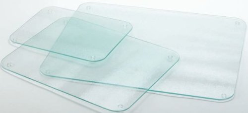 Completely Clear & Flat Float Glass Worktop Saver - 40 x 30cm by Cutting Edge Cookware TLC Giftware