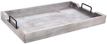 Large Ottoman Tray With Handles 20x12 Inch Wood Trays For