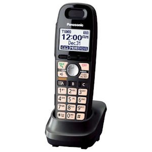 - Panasonic DECT 6.0 Accessory Handset with Caller ID for KX-TG659 Series - Black