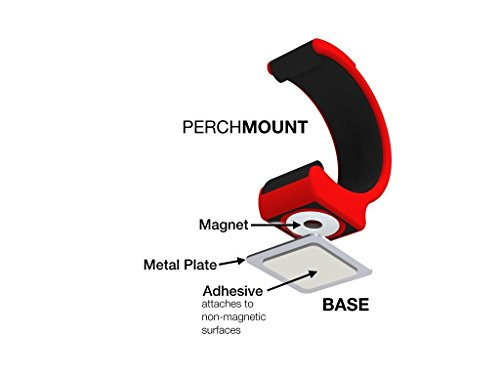 Perchmount Fit Magnetic Smartphone Mount (Red)