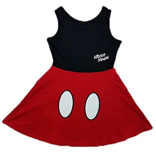 Disney Girls Mickey Mouse Dress Red Small