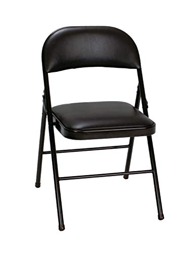 Cosco Vinyl Folding Chair Black 4-pack