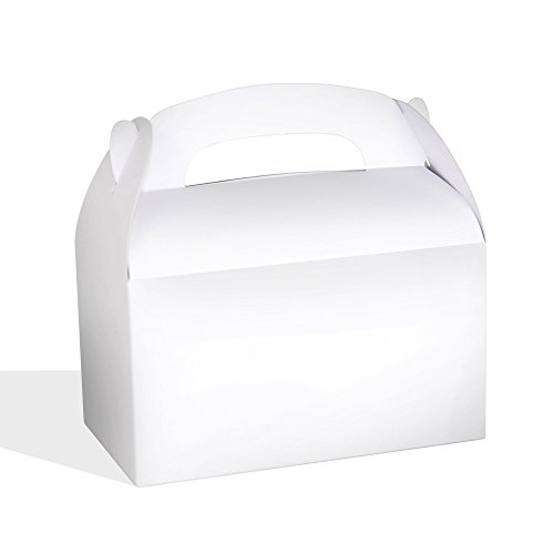 White Bright Color Treat Boxes (Pack of 12) - Play Kreative TM (White)